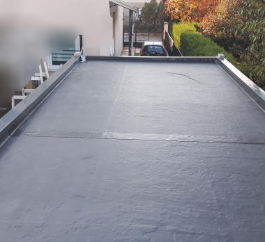 acoperis tip terasa hidroizolat cu membrana EPDM firestone rubbercover acoperiș garaj
